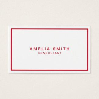 Profesional moderno corporativo blanco y rojo tarjeta de negocios
