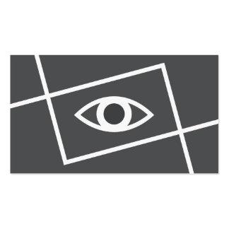 Profesional moderno del blanco gris del ojo del tarjetas de visita