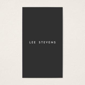 Profesional moderno negro llano minimalista simple tarjetas de visita