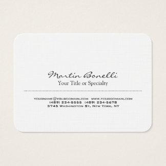 Profesional moderno único especial de lino tarjeta de negocios