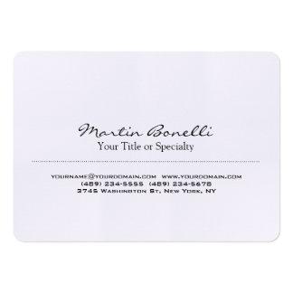 Profesional moderno único especial de lino tarjetas de visita grandes