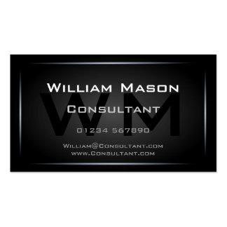Profesional negro fresco del monograma - tarjetas de visita