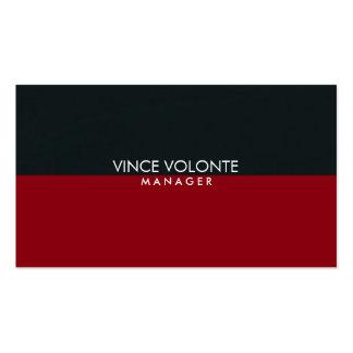 Profesional negro gris rojo elegante elegante tarjetas de visita