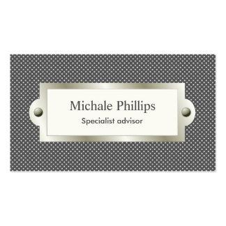 Profesional negro ventana elegante clásico serio tarjetas de visita