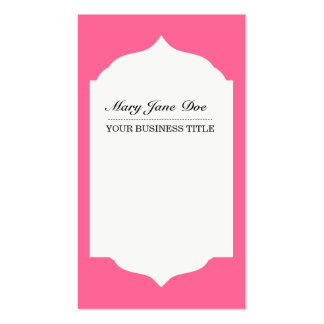 Profesional Plain & Simple  Pink Business Cardf Business Card Templates