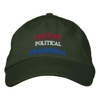 Profesional político certificado gorros bordados