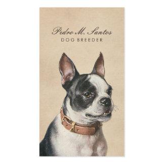 Profesional poner crema animal fresco del criador tarjetas de visita