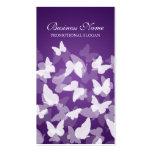 Profesional púrpura de las mariposas elegantes tarjeta de visita