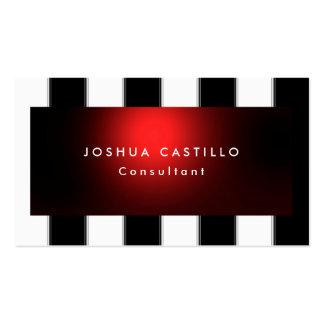Profesional rayado del rojo blanco negro llano tarjetas de visita
