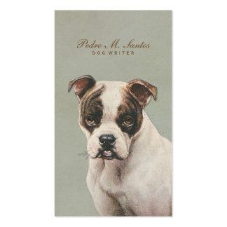 Profesional simple animal fresco del escritor del tarjetas de visita