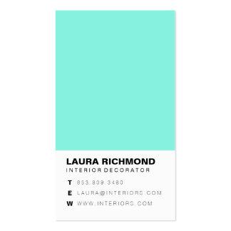 Profesional simple del decorador de interiores del tarjetas de visita