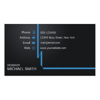 Profesional simple fresco moderno negro tarjetas de visita