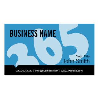 Profesional tarjeta de visita azul de 365 días