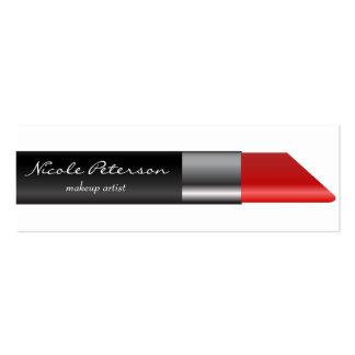 Profesional único del maquillaje rojo del lápiz tarjetas de visita mini