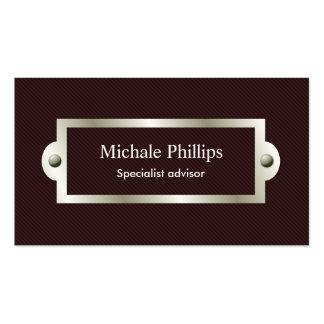 Profesional ventana elegante clásico serio tarjetas de visita