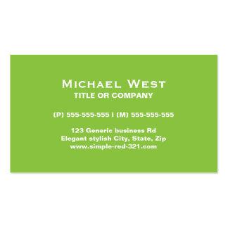 Profesional verde y negro elegante simple moderno tarjetas personales