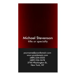 Profesional vertical rojo gris oscuro único tarjetas de visita
