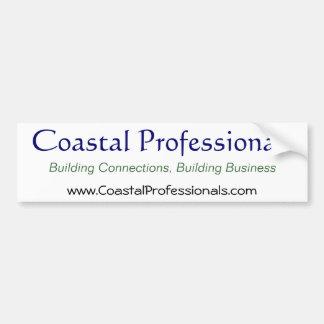 Profesionales costeros, pegatina para el parachoqu pegatina de parachoque