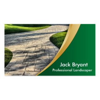 Profesionales del paisaje tarjetas de visita
