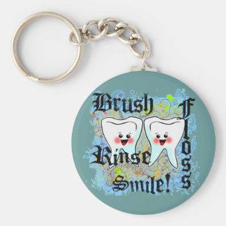 Profesionales dentales de los dentistas llavero redondo tipo pin