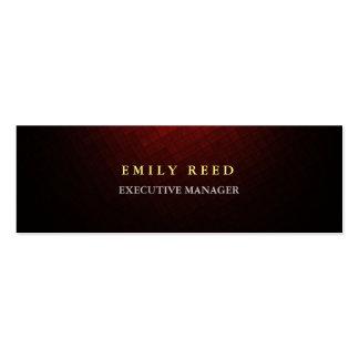 Profesionales simples modernos rojos parduscos tarjetas de visita mini