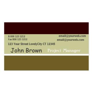 Profesiones mínimas sabias quemadas tricoloras del tarjetas de visita