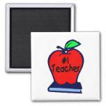 Profesor #1 (Apple/libros) Imán Para Frigorifico