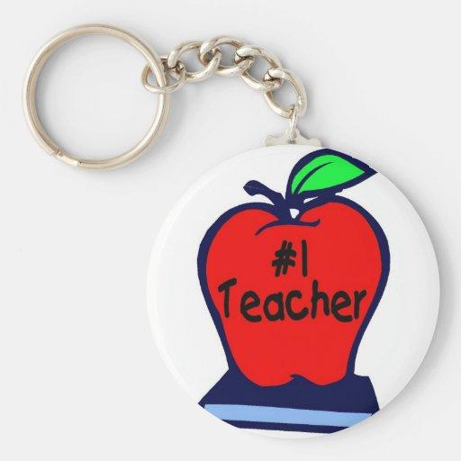 Profesor #1 (Apple/libros) Llavero