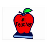 Profesor #1 (Apple/libros) Tarjetas Postales