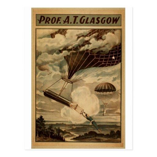 Profesor A.T.Glasgow Vintage Theater Postal