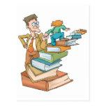 Profesor abrumado tarjeta postal