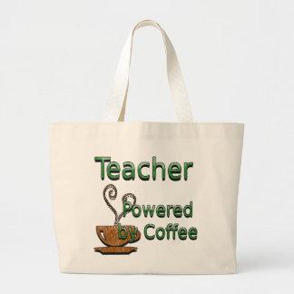 Profesor accionado por el café bolsa tela grande