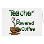 Profesor accionado por el café tarjeta