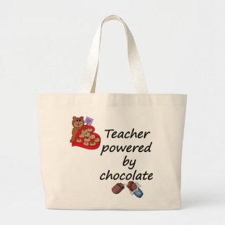Profesor accionado por el chocolate bolsas lienzo