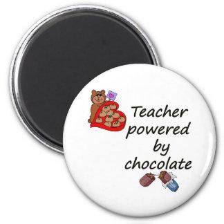 Profesor accionado por el chocolate imanes