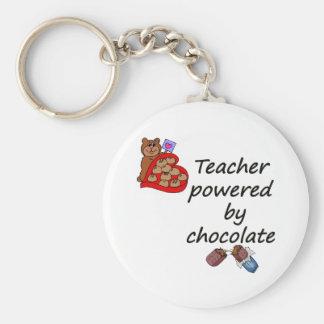 Profesor accionado por el chocolate llavero