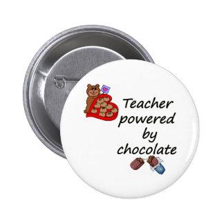 Profesor accionado por el chocolate pin