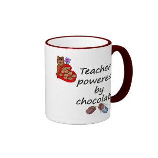 Profesor accionado por el chocolate tazas