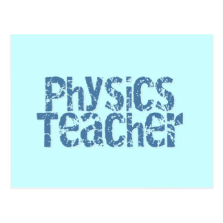 Profesor apenado azul de la física del texto postal