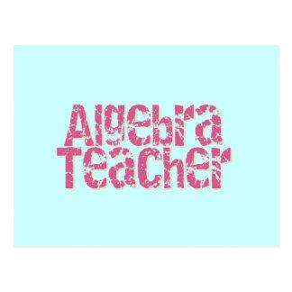 Profesor apenado rosa de la álgebra del texto postales