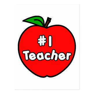 Profesor Apple del número uno Postales