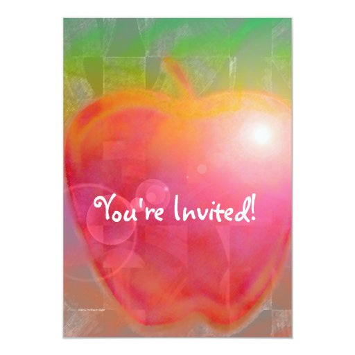 Profesor Apple Invitación 12,7 X 17,8 Cm