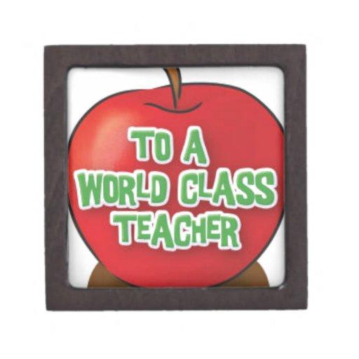 Profesor-Aprecio-Apple Caja De Joyas De Calidad