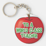 Profesor-Aprecio-Apple Llavero