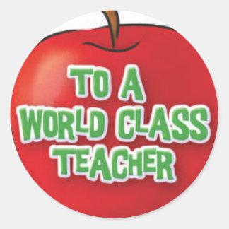 Profesor-Aprecio-Apple Pegatina