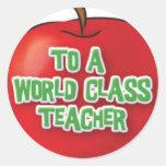 Profesor-Aprecio-Apple Pegatina Redonda