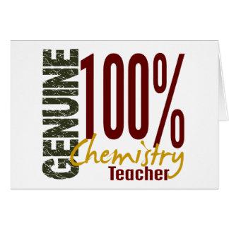 Profesor auténtico de la química tarjeta de felicitación