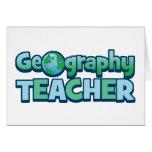 Profesor azul de la geografía del globo felicitacion