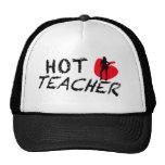 Profesor caliente gorros bordados