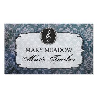 Profesor cantante del piano de la música del damas tarjetas de visita